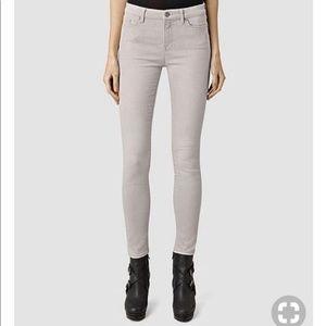 All Saints Grace Jeans in warm pale grey Skinny
